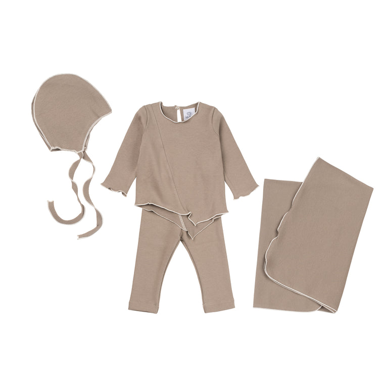 Chesnut Ribbed 2 Piece Set