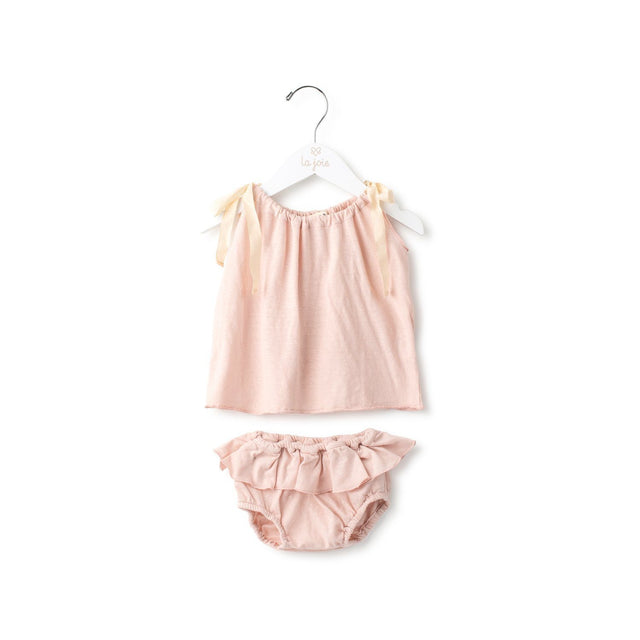 Powder Pink Top And Bloomer Set