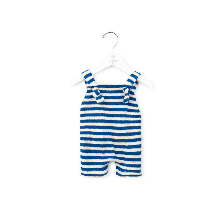 Terry Striped Overalls