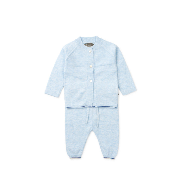 Light Blue Monti Organic Knit 2 Piece Set