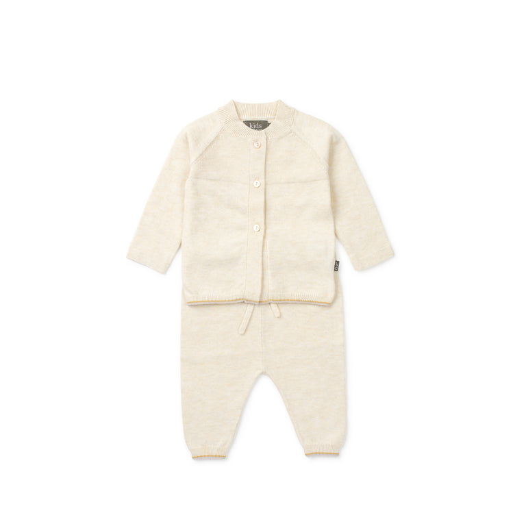 Off White Monti Organic Knit 2 Piece Set
