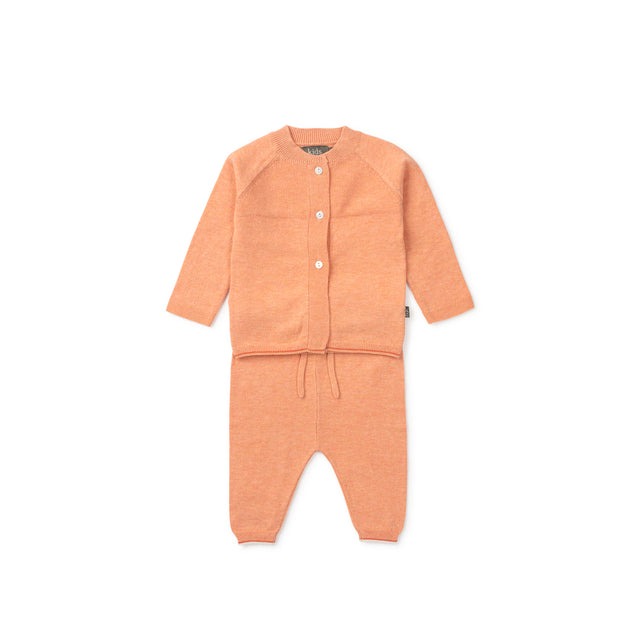 Orange Monti Organic Knit 2 Piece Set