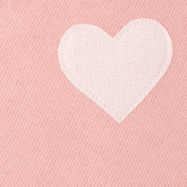 Pink Organic Cotton Heart Blanket
