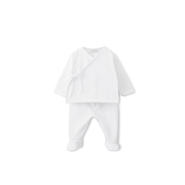 White Cotton Side Tie 2 Piece Set