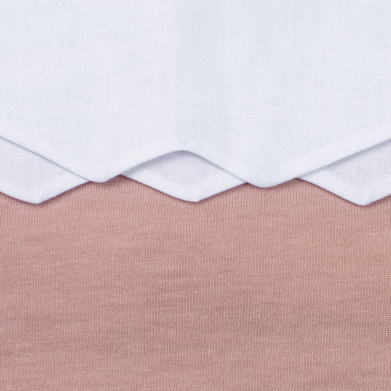 Rose Pink Scalloped Cotton Footie