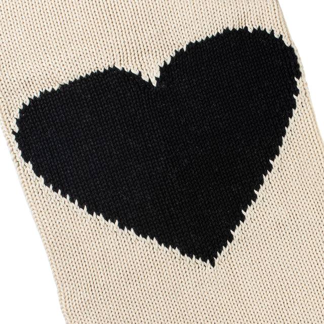 "Chunky Knit Cotton ""Heart"" Blanket"