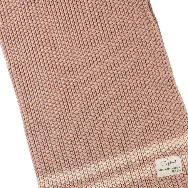 Blush Pink And Shell Marici Chunky Blanket