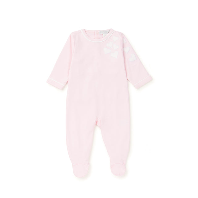 Pink Heart Designed Cotton Footie
