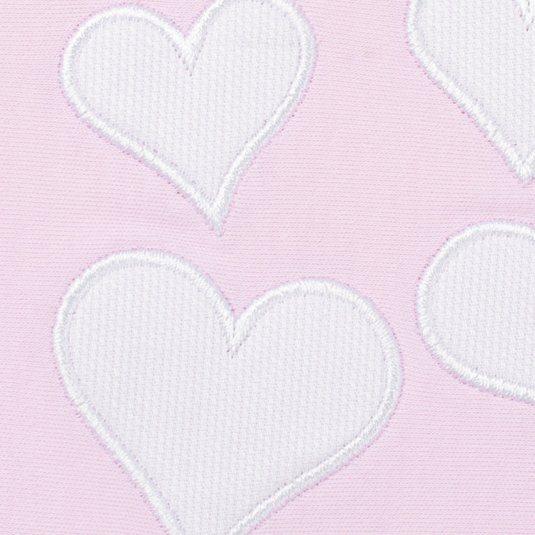 Pink Heart Designed Cotton 3 Piece Layette Set