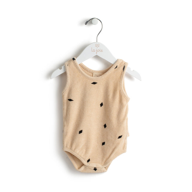Oatmeal Diamonds Romper