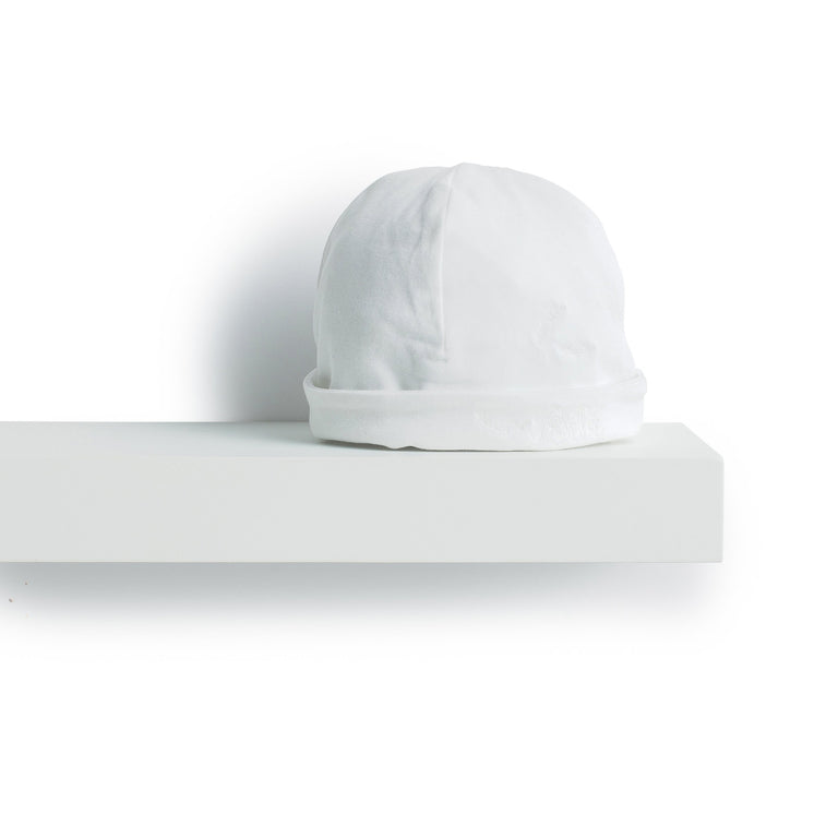 White Emerised Cotton Hat