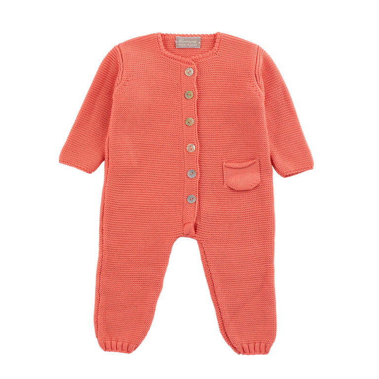 Papaya Knit Footie