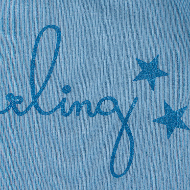 Blue Darling  Star Cotton Blanket