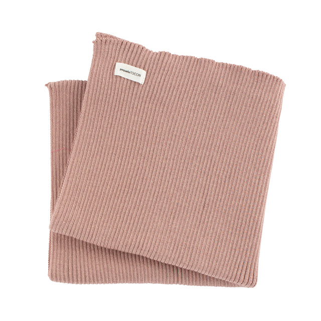 Pink Ribbed Knit Blanket