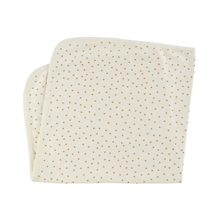 Gold Dots Cotton Blanket