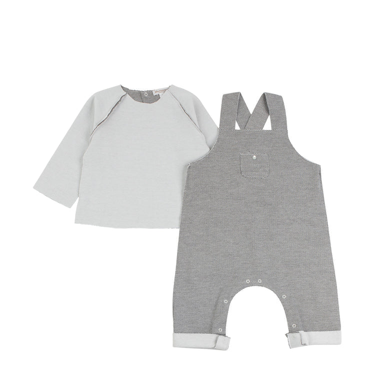 Herringbone Double-Faced Overall Set