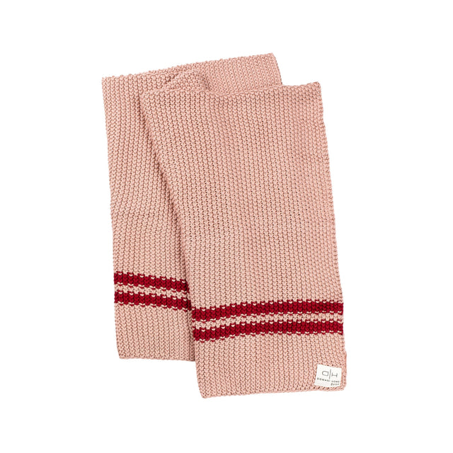 Blush Pink And Marsala Marici Chunky Blanket