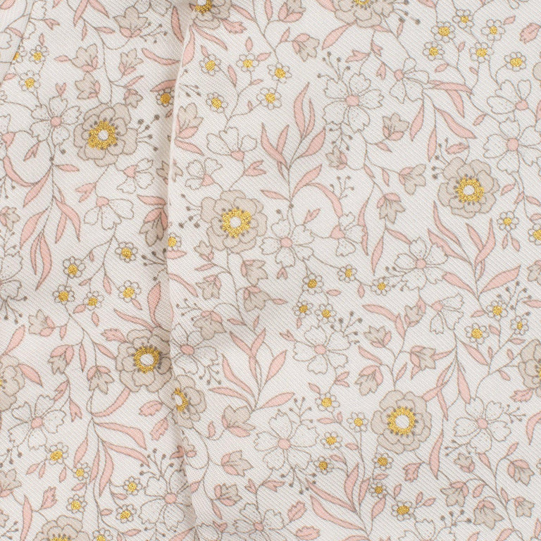 Floral Print Mother-of-Pearl Coverall