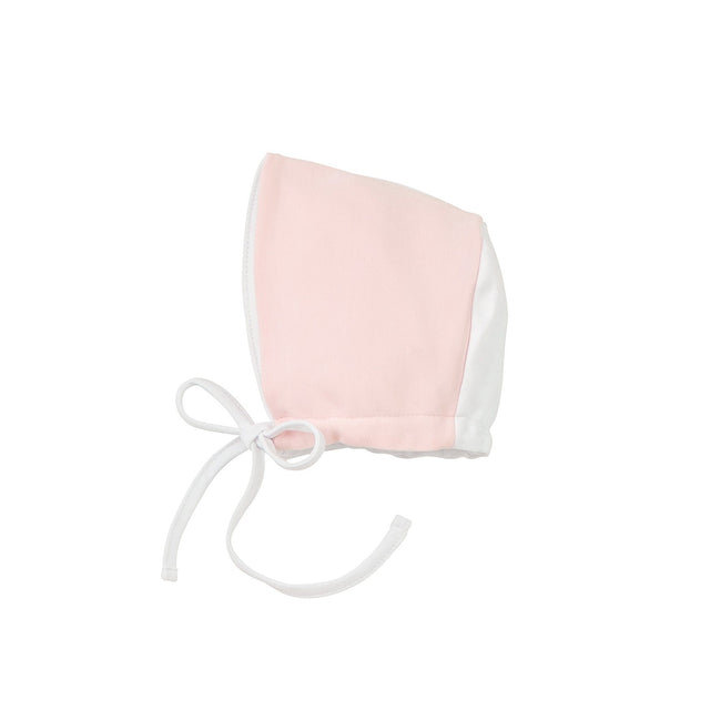 White And Pink Cotton Bonnet
