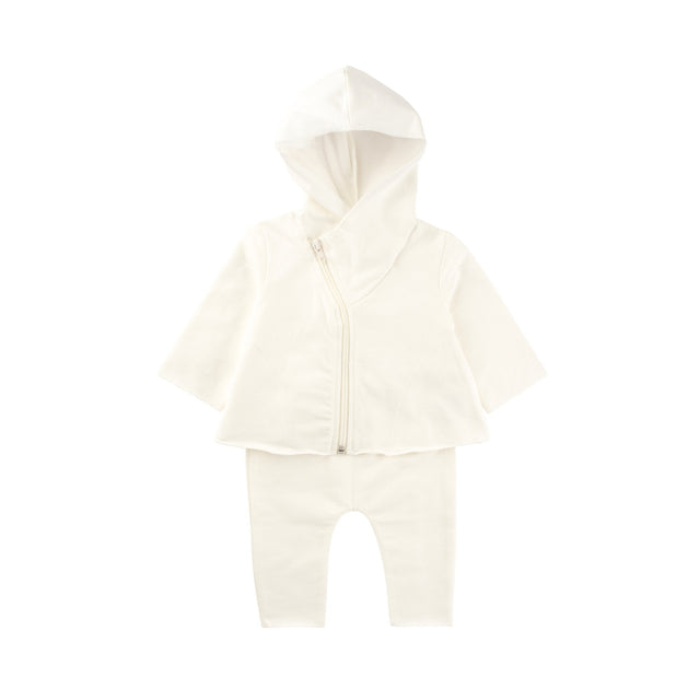 White Hooded 2 Piece Set
