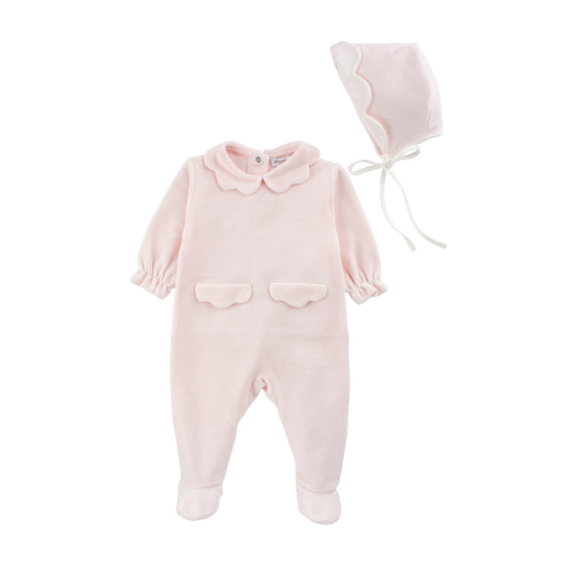 Light pink Scallop Velour 2 Piece Set