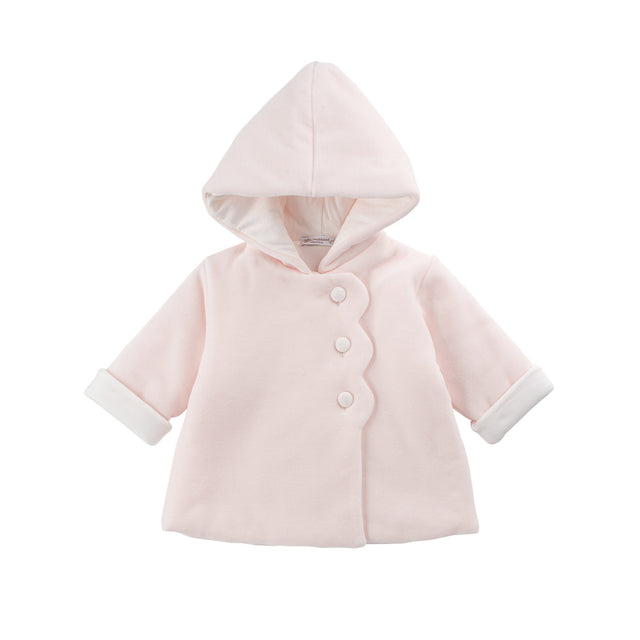 Light Pink Velour Scallop Valtherm Jacket