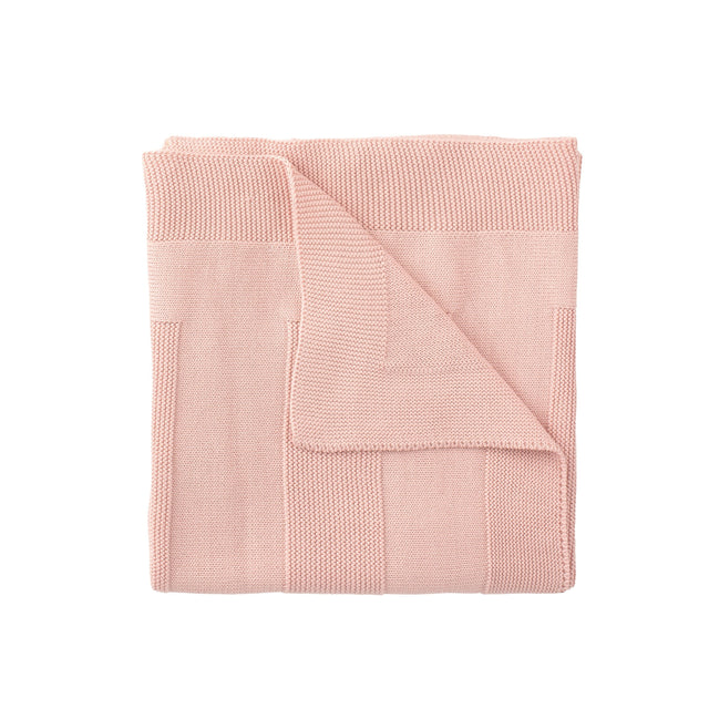 Antique Pink Lined Knit Blanket