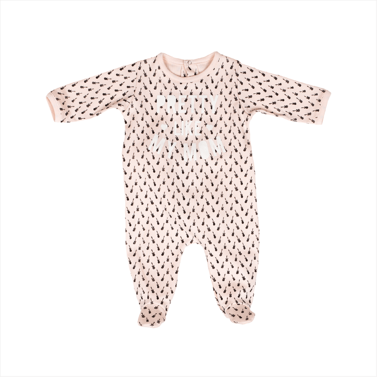 Pink Chalk Duchamp Printed Footie