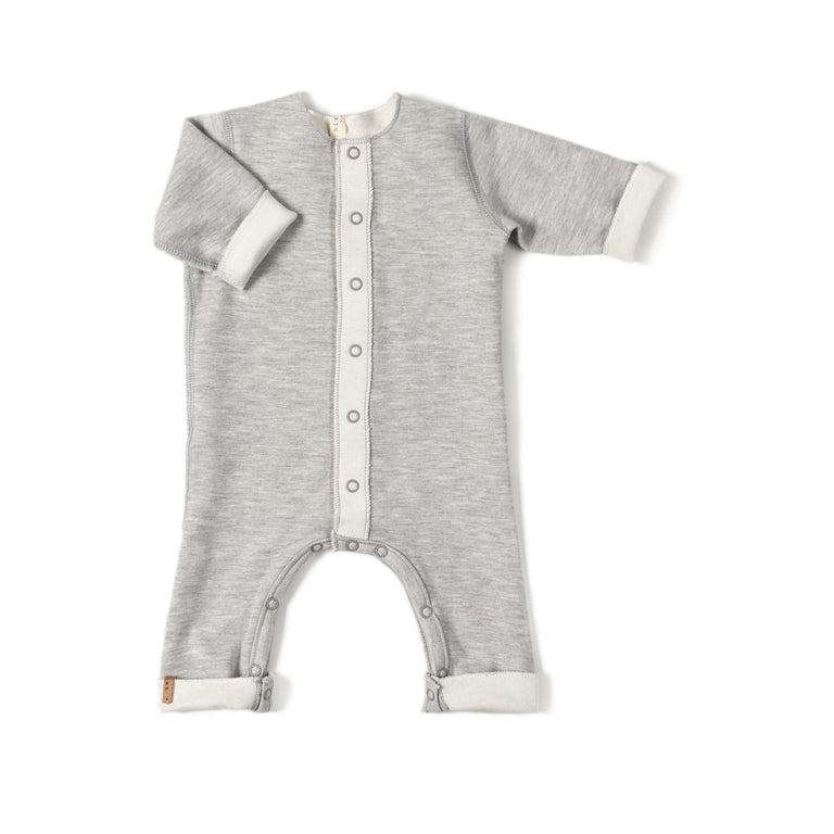 Grey Double  Reversible Footie