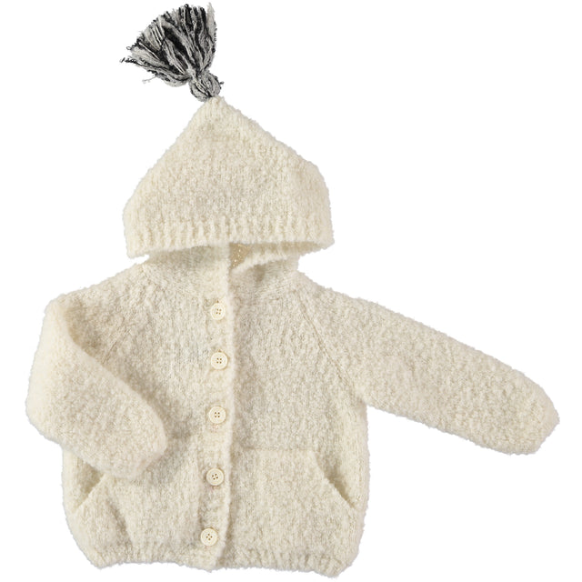 Ivory Baby Cloud Knit Hooded Jacket