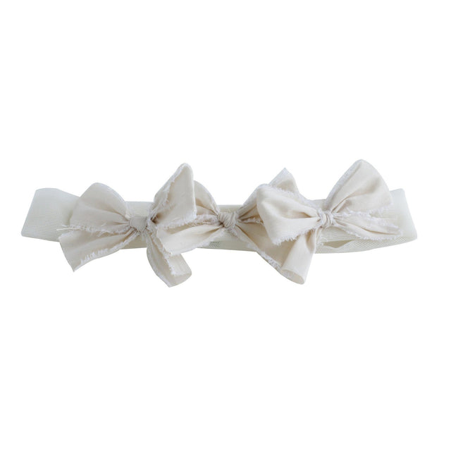 Ivory Silk Triple Baby Bow Headband