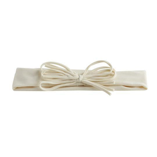 Ivory Shoelace Baby Bow Headband