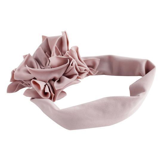 Antique Rose Ruffled Edge Headband