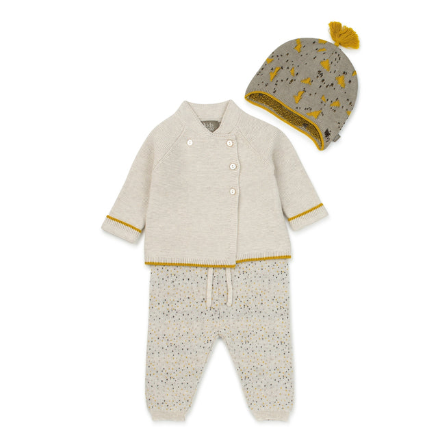 Cream Leo Organic Knitted 2 Piece Set
