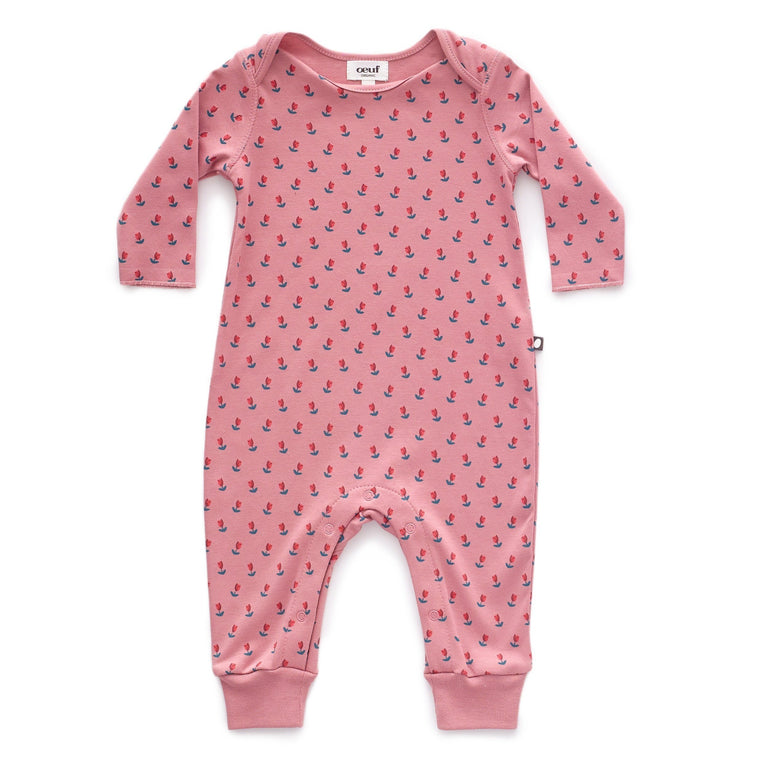 Dark Pink Tulips Coverall