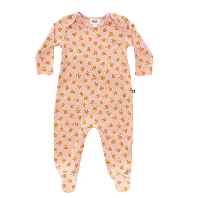 Pink Clementines Cotton Footie
