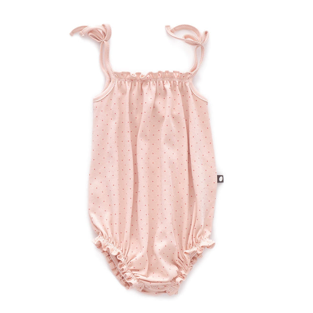Light Pink Dots Romper
