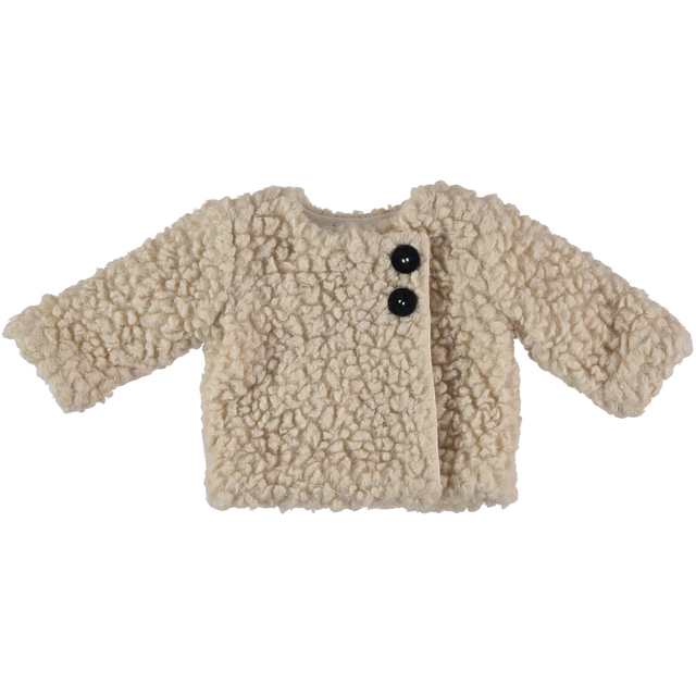 Natural Crossed Teddy Jacket and Muff