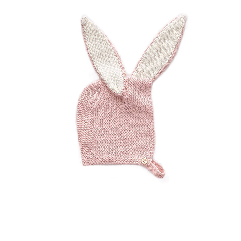 Light Pink Knit Bunny Bonnet