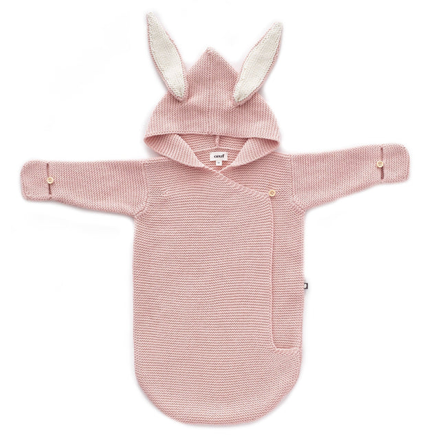Light Pink Knit Bunny Wrap