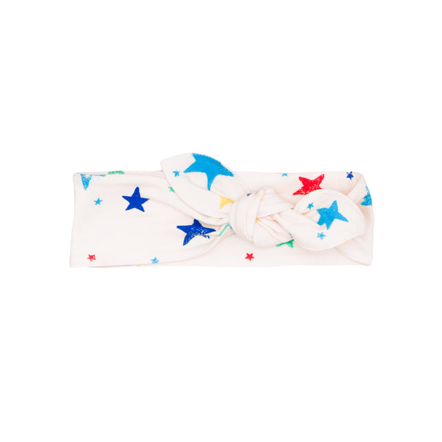 Multi Color Stars Knot Headband