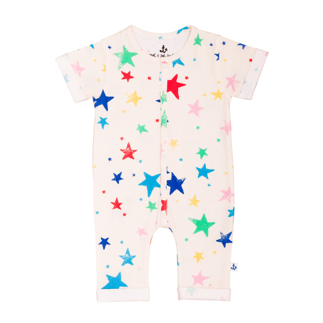Multi Color Stars Romper