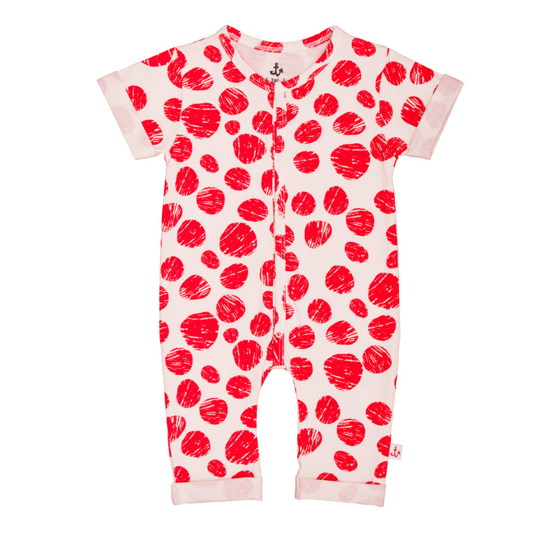 Red Dots Romper
