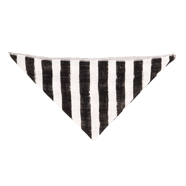 Black Striped Burp Cloth