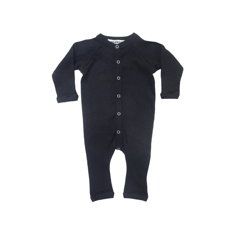 Heather Grey Soft Ribbed Organic Coverall