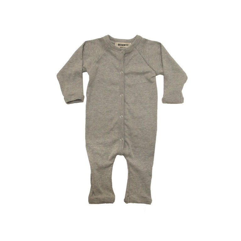 Black Soft Ribbed Organic Coverall