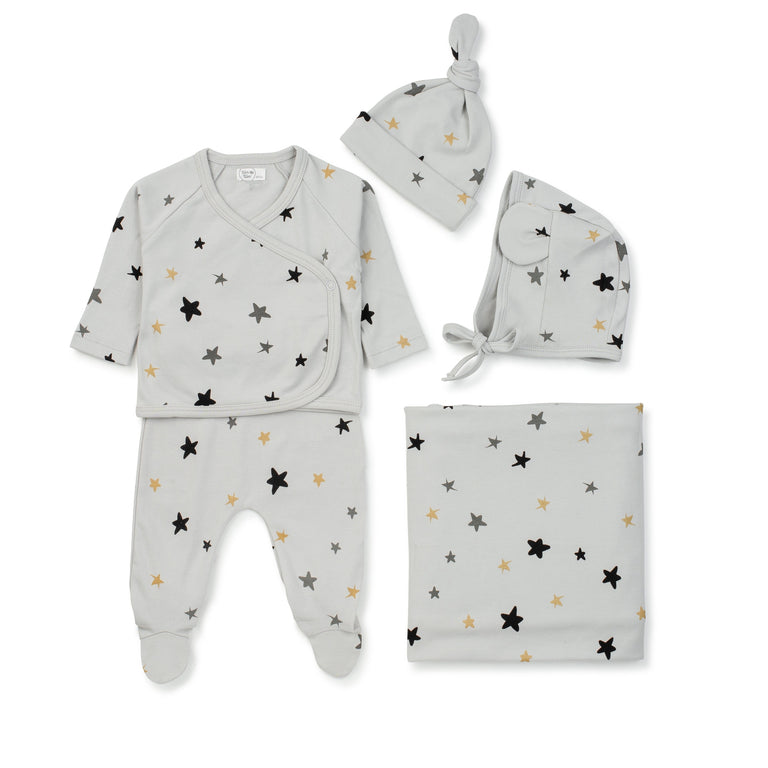 Grey Stars 2 Piece Set