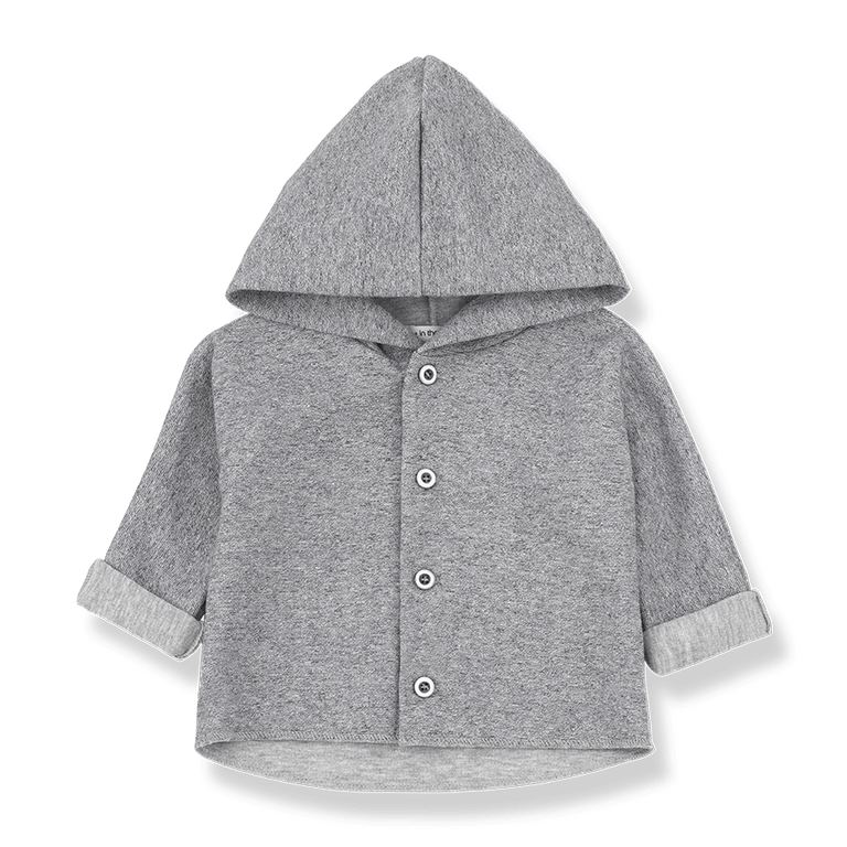 Grey Waldo Hooded Jacket