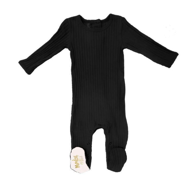 Black Ribbed Footie