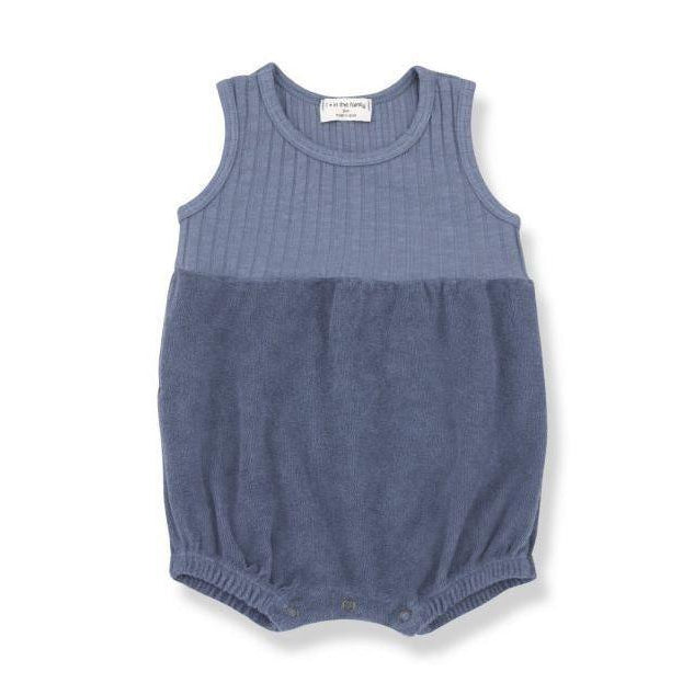Indigo Tarantin Terry and Ribbed Romper